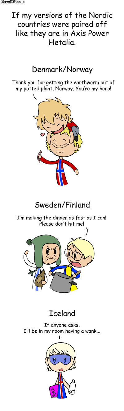 Scandinavia and the world comics by humon