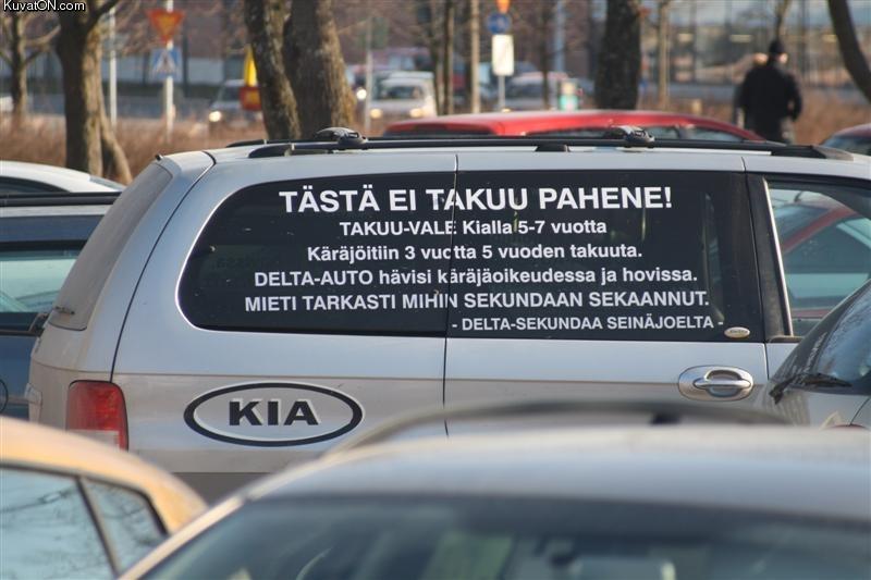 Autokauppias huijasi