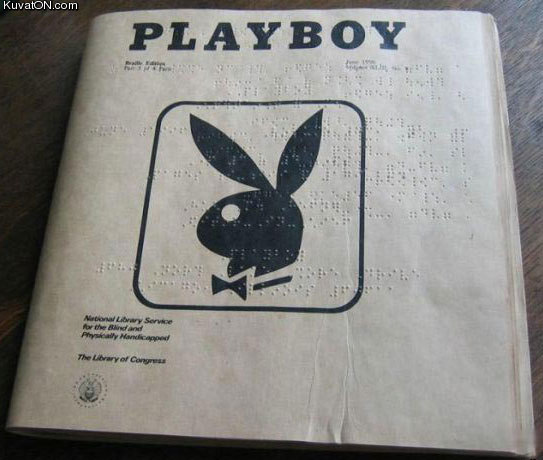 This is Funny Image and stuff about Playboy Blind, find more silly